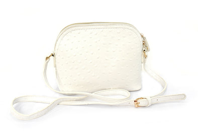 Ostrich Domed Crossbody Handbag