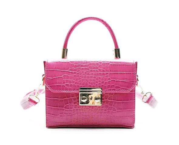Top Handle Lock Front Mini Satchel