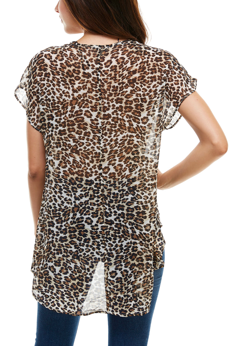 Animal Print High Low Print Top - Charming Charlie