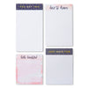 Assorted Memo Pad Stationery Set - Easy Tear Pages - 4 Pieces - Charming Charlie