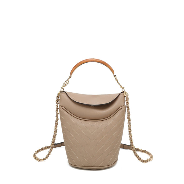 Flap Crossbody With Tophandle And Chain Crossbody Strap