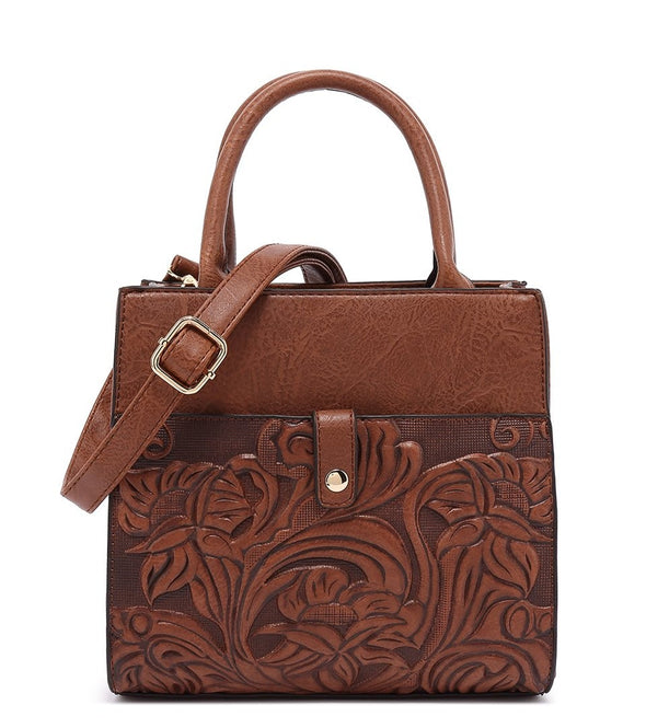 Tooled Small Satchel