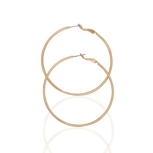 "2"" Hoop Earrings Jewelry, Gold - Charming Charlie"