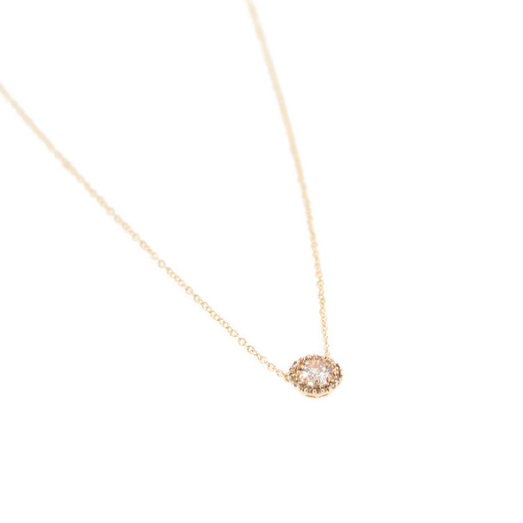 "16"" Cubic Zirconia w/ Halo Pendant Necklace - Silver - Charming Charlie"