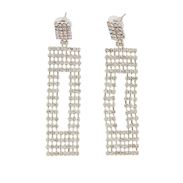 Oversized Statement Rhinestone Earrings