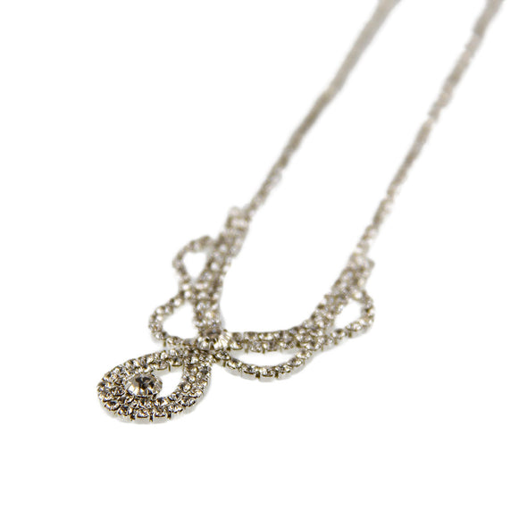 Rhinestone Teardrop Necklace & Earring Set