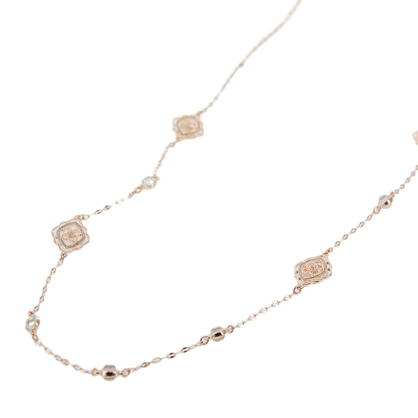 Single Strand Glitter Chain Necklace