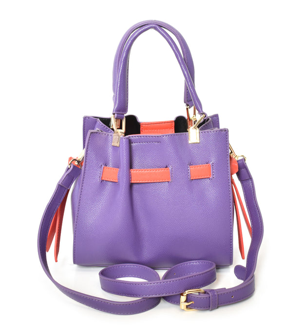 Mini Belt Trim Satchel Bag