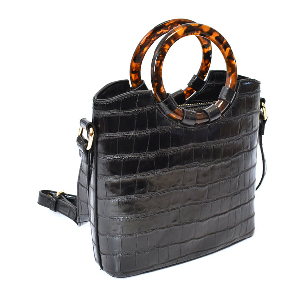 Croco Crossbody Bag
