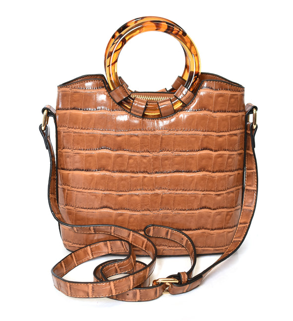 Croco Crossbody Handbag