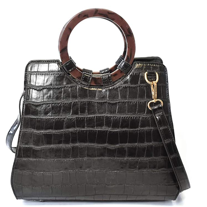 Large Croco Satchel Bag