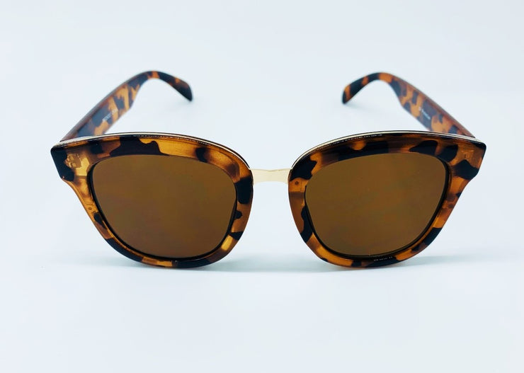 Everyday Comfort Gradient Lens Sunglasses - Brown & Gold