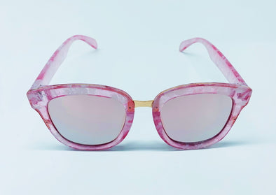 Everyday Comfort Flash Lens Sunglasses - Pink & Rose Gold