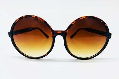 Oversized Round Sunglasses - Brown