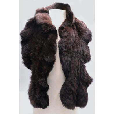 Long Hair Rabbit Ruffle Scarf