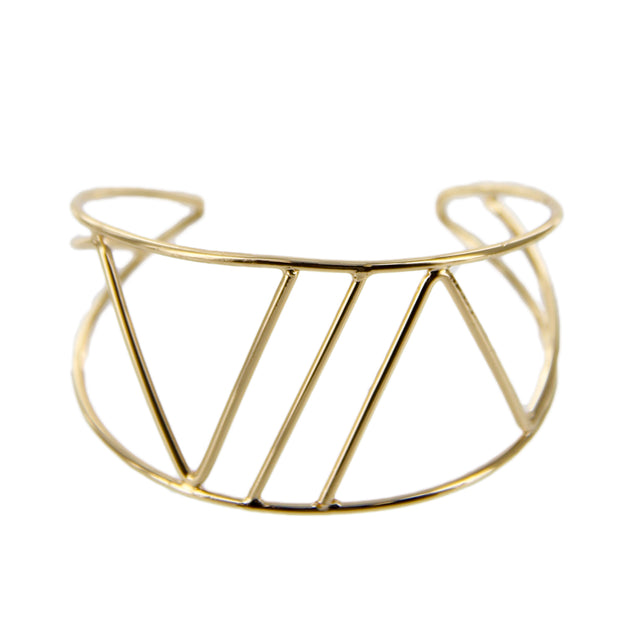 Metal Wire Open Cuff Bracelet - Charming Charlie