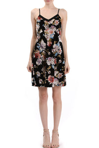 V-Neck Cami Floral Dress