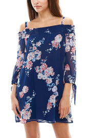 Off the Shoulder Floral Dress - Charming Charlie