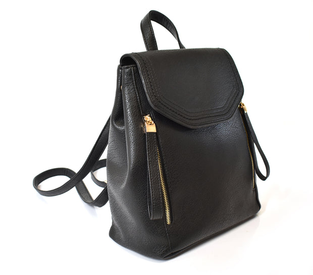 Front Flap Backpack Bag w/ Double Zipper Pulls - Charming Charlie