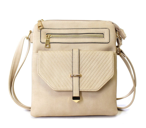 Chevron Quilt Flap Tall Crossbody