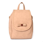 Bow Front Stud Detailed Backpack