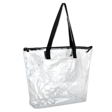 Clear Tote With Colored Piping