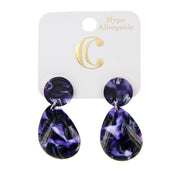 "1.75"" Resin Post Teardrop Fashion Earrings - Charming Charlie"