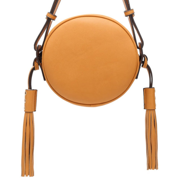 Circle Crossbody With Tassel Details Zip Closure
