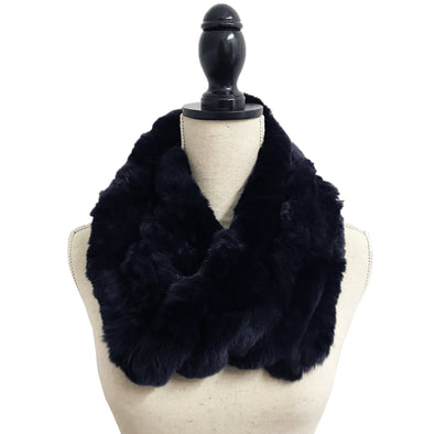 Genuine Rex Rabbit Fur Chain Neck Loop