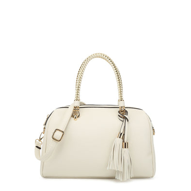 E/W Satchel With Zip Closure And Crossbody Strap