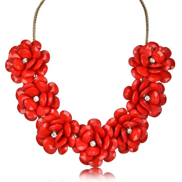 Floral Statement Collar Necklace