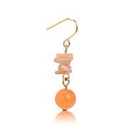 Stacked Stone Dangle Earrings