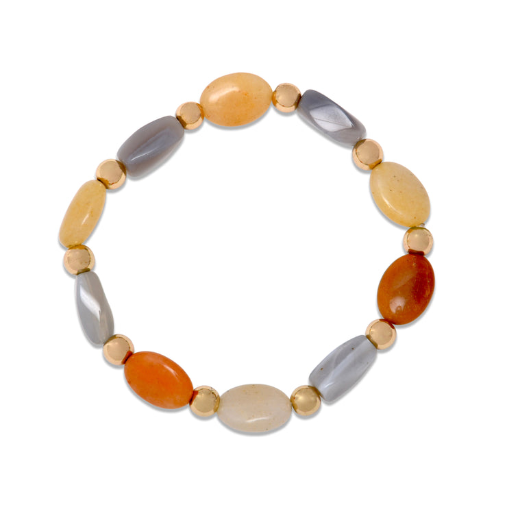 Multicolor Gem Stone Stretch Bracelet