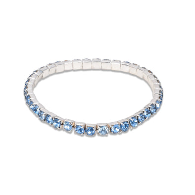 Single Layered Gem Stretch Bracelet