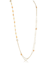 Beaded Illusion Multi Stone Necklace