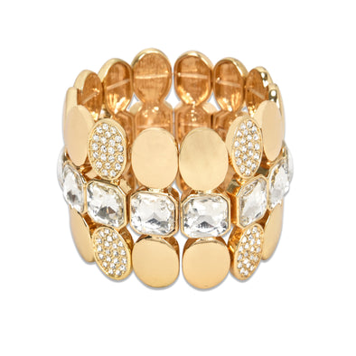 Multi Layered Gem Stretch Bracelet