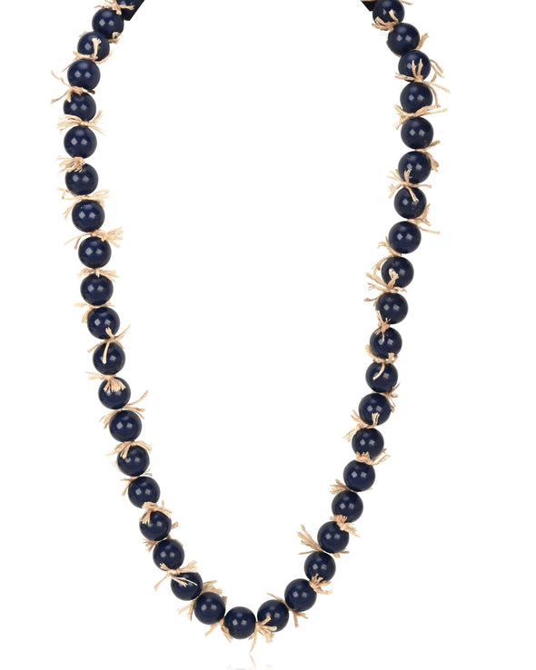 Allover Beaded Long Necklace