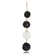 Mixed Media Beaded Ball Drop Earrings