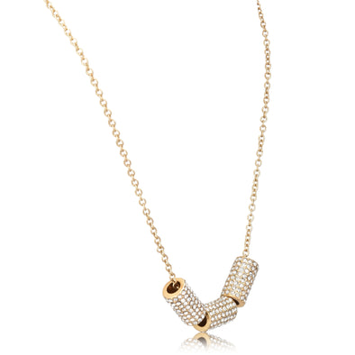 Rhinestone Cylinder Short Pendant Necklace