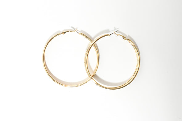 Triple Layer Stardust Large Hoop