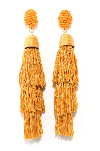 Tiered Statement Tassel Earring