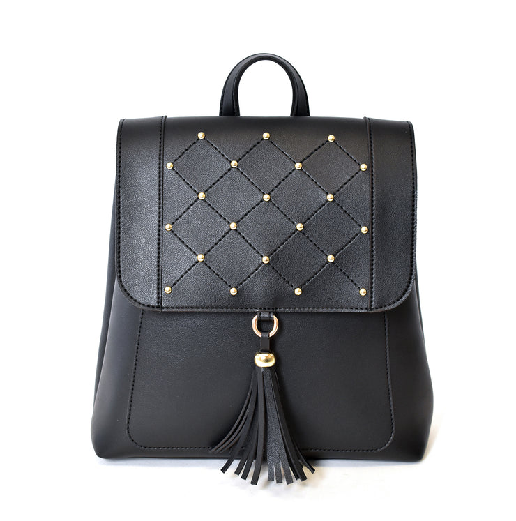 Convertible Studded Backpack