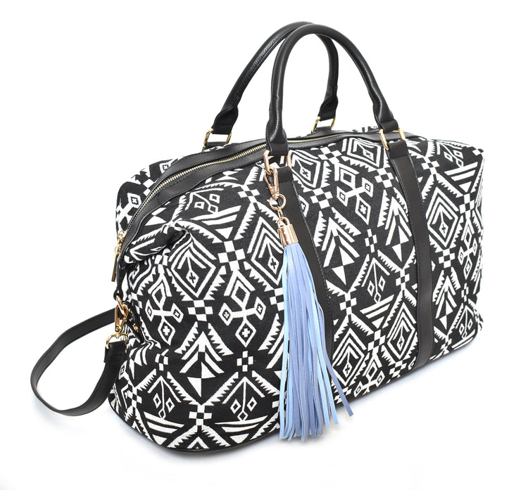 Aztec Weekender Bag w/ Shoulder Strap - Charming Charlie
