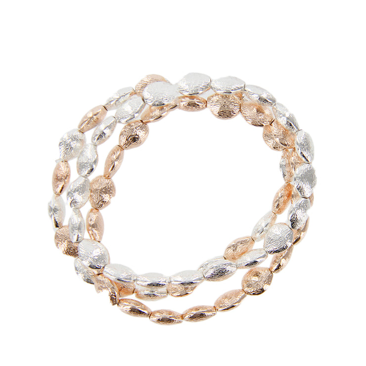 Textured Metal Stretchable Bracelets