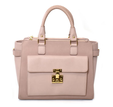 Large Lock Front Satchel