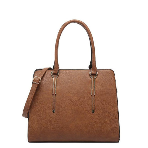 Structured Tote With Detachable Strap