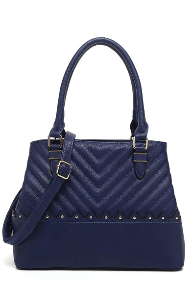 Quilted Double Handle Satchel
