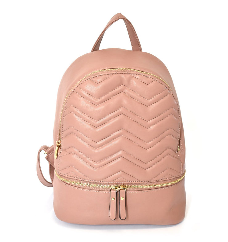 Zig Zag Quilted Backpack
