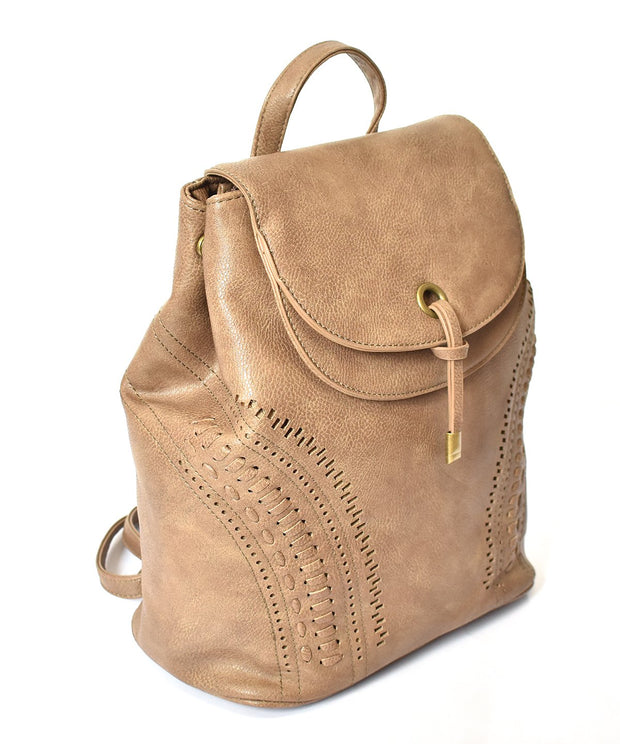 Laser Cut Double Flap Backpack