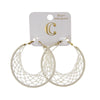 "2"" Crochet Fabric Wrapped Hoop Earrings - Charming Charlie"